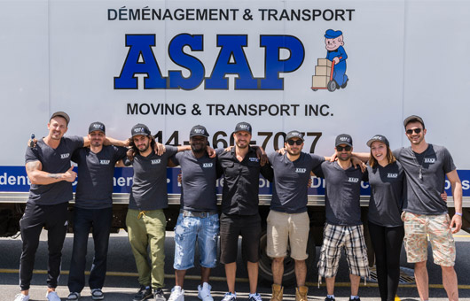 ASAP's friendly professional movers posing together